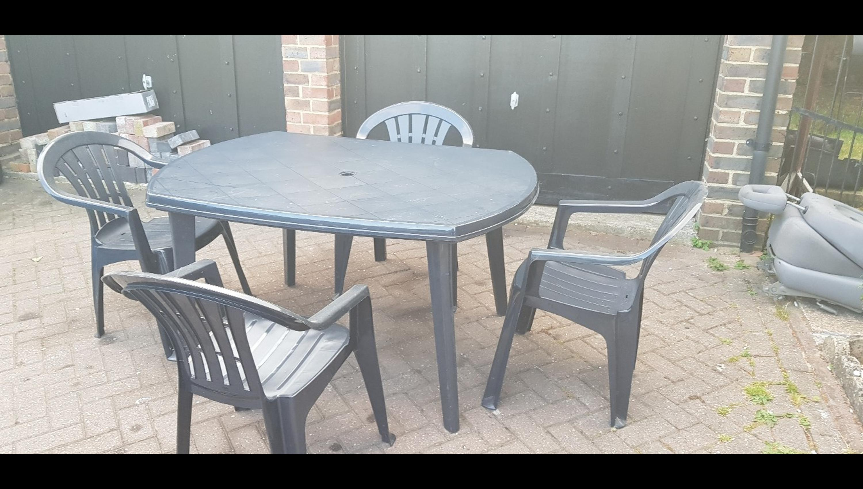 Incredible Garden Table Elise Graphite With 4 Chairs Bralicious Painted Fabric Chair Ideas Braliciousco