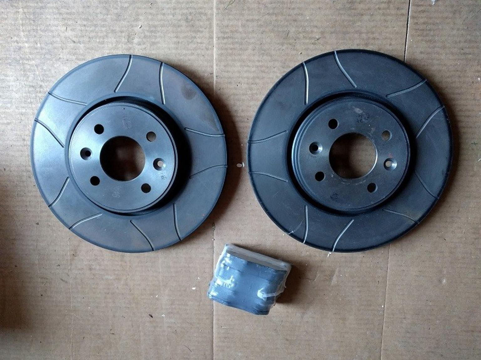 FOR CLIO SPORT 172 182 FRONT DRILLED /& GROOVED BRAKE DISCS ABS PADS MINTEX
