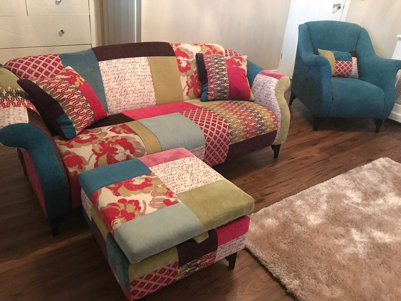 Dfs Patchwork Sofa In M34 Tameside For 850 00 Shpock