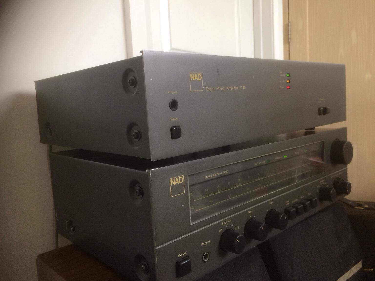 NAD power amplifier and stereo receiver