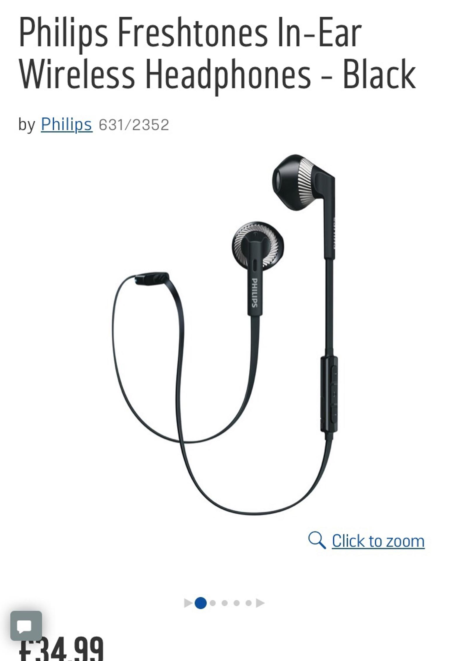 3a16a95c00c Philips freshtones Bluetooth earphones in NE2 Tyne for £25.00 - Shpock