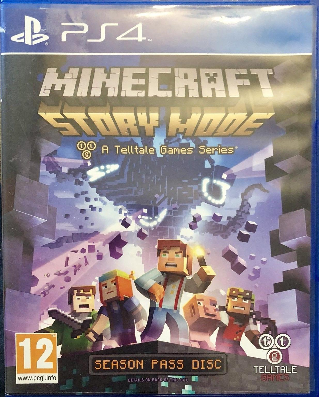 Minecraft Story Mode Season Pass Disc For ps4