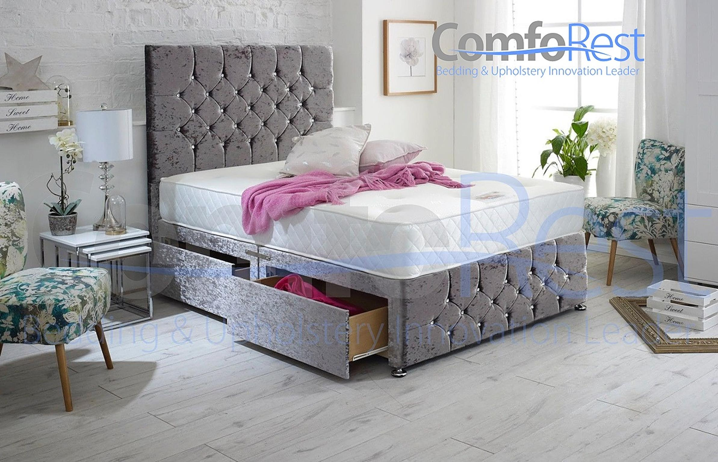 9591cddb7d71 Crushed Velvet Ibex Plus Extra Storage Bed in G45 4AN Birmingham for  £179.00 for sale - Shpock
