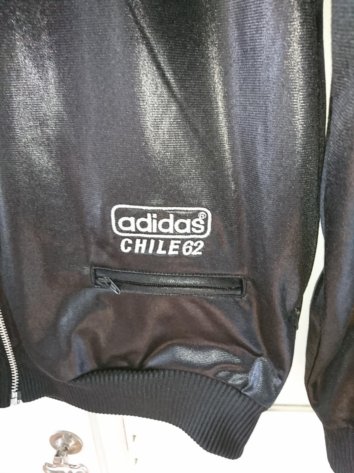 New Mens Adidas Originals chile 62 JACKET FAUX LEATHER WET