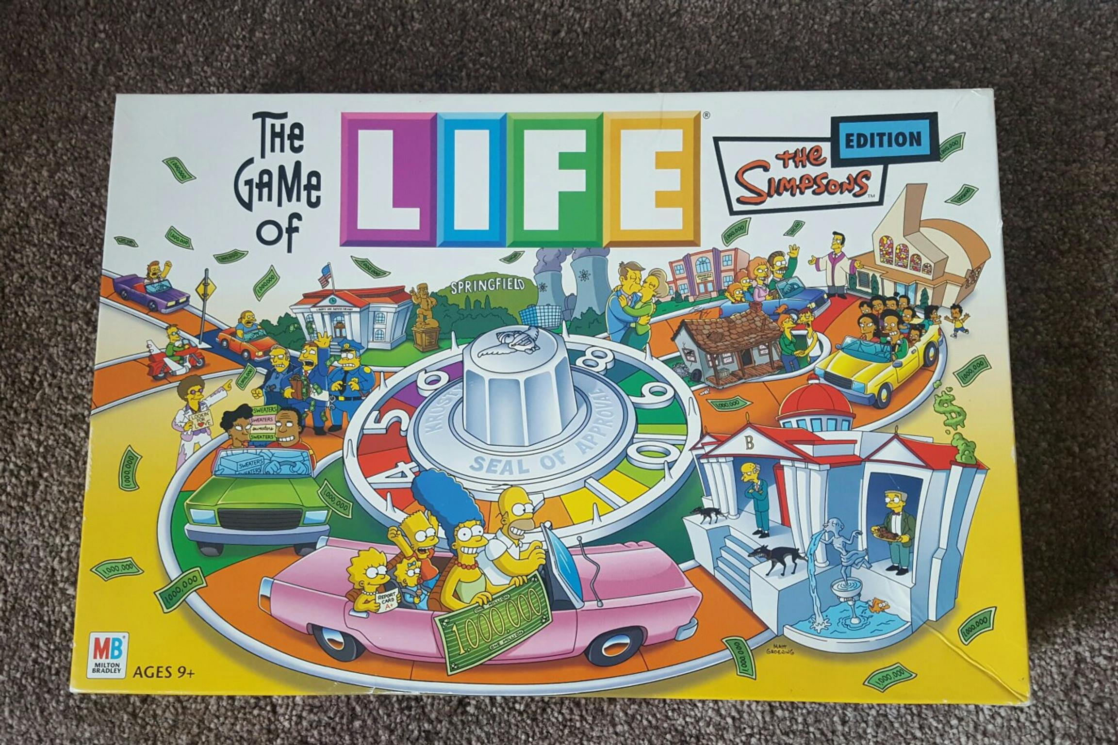 Game Of Life Board Game Simpsons Edition