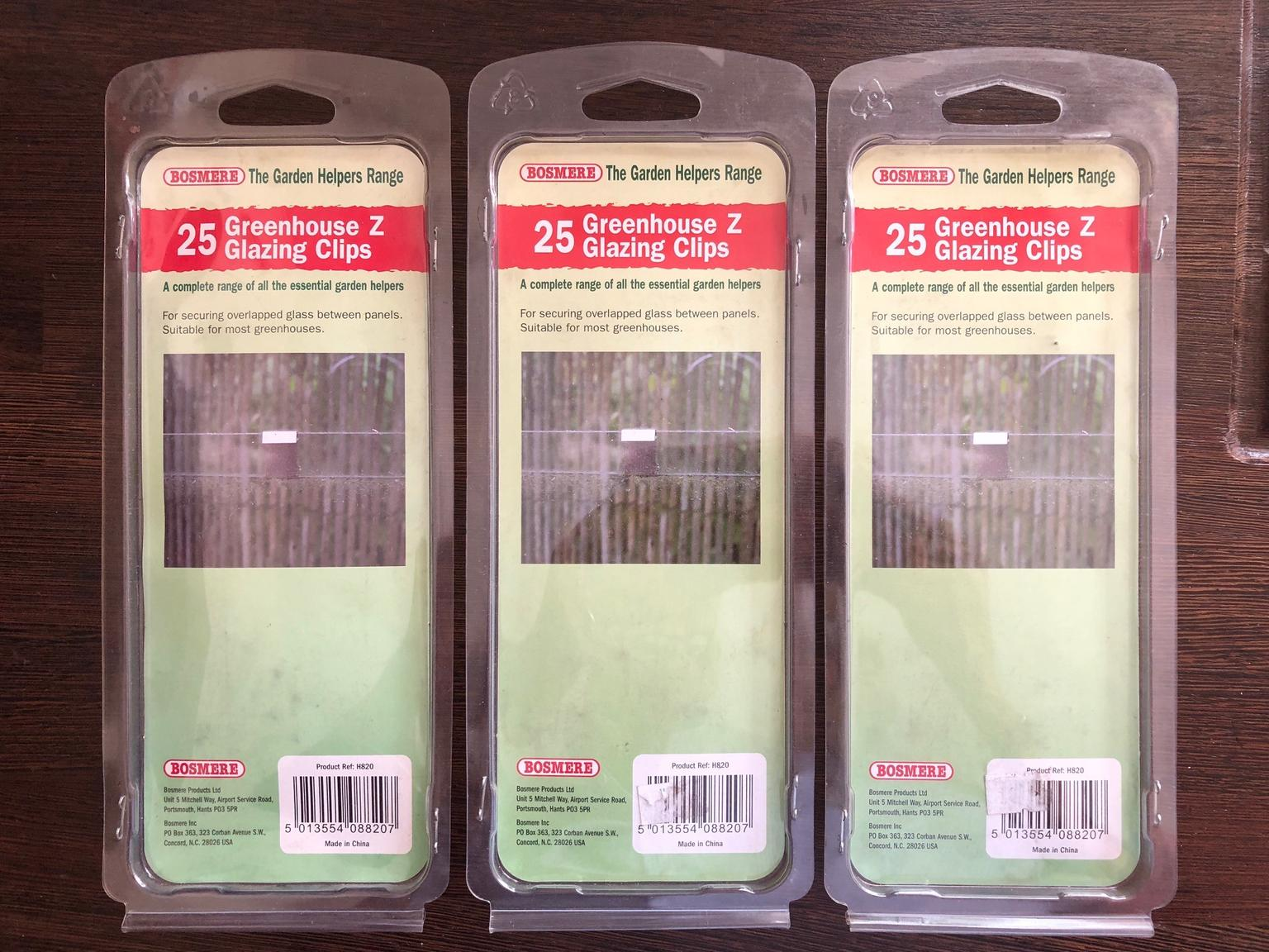 Greenhouse Z Glazing Clips 3 Packs Of 25 New In Epping Forest Fur