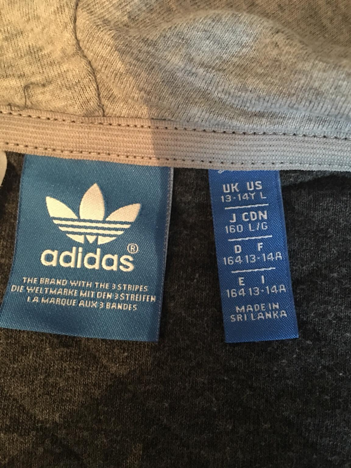 Adidas zip up hoodie vgc age 13 14 yrs in TN34 Hastings für