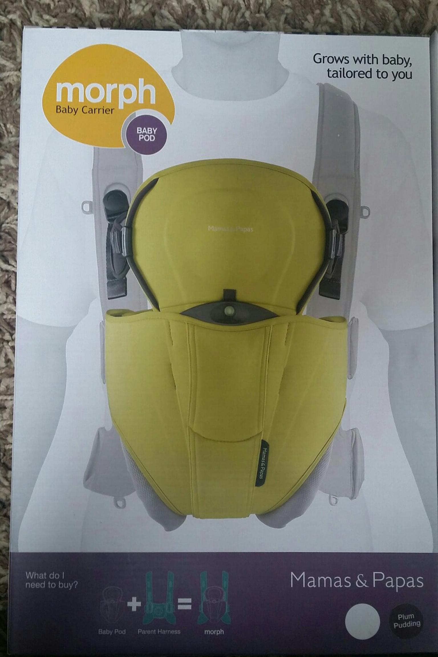 New Mamas and Papas baby carrier liner Morph plum pudding baby carrier liner
