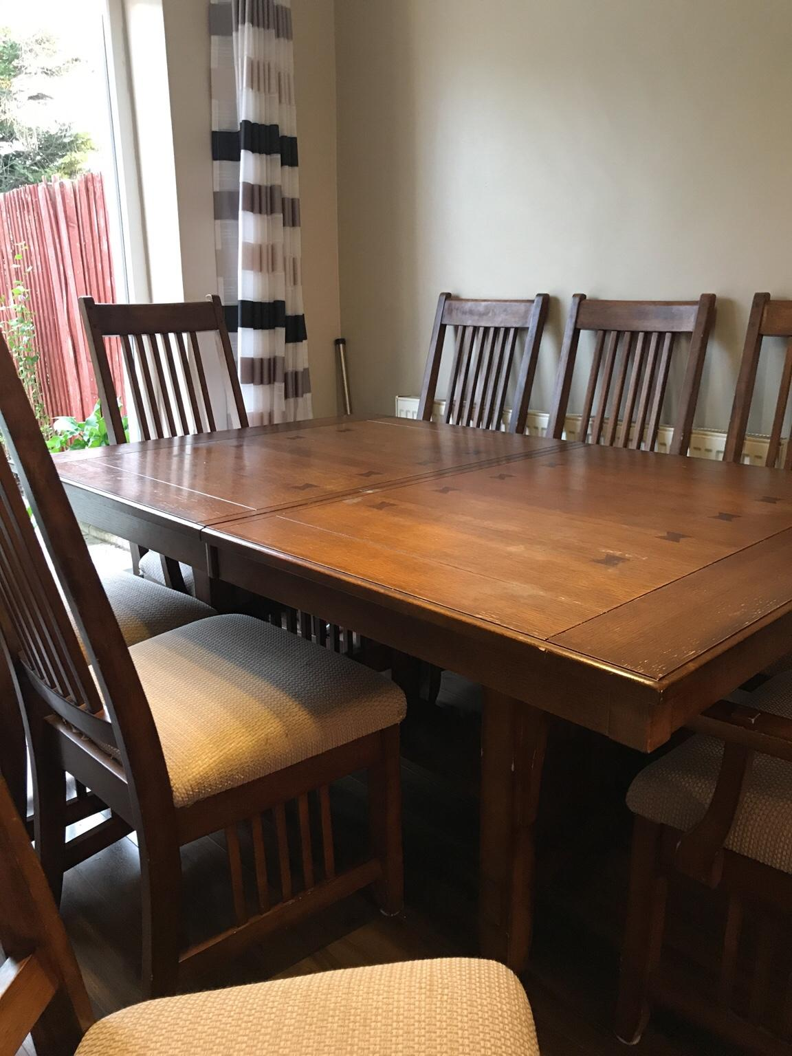 Mahogany wood dining table 8 chairs in London Borough of ...
