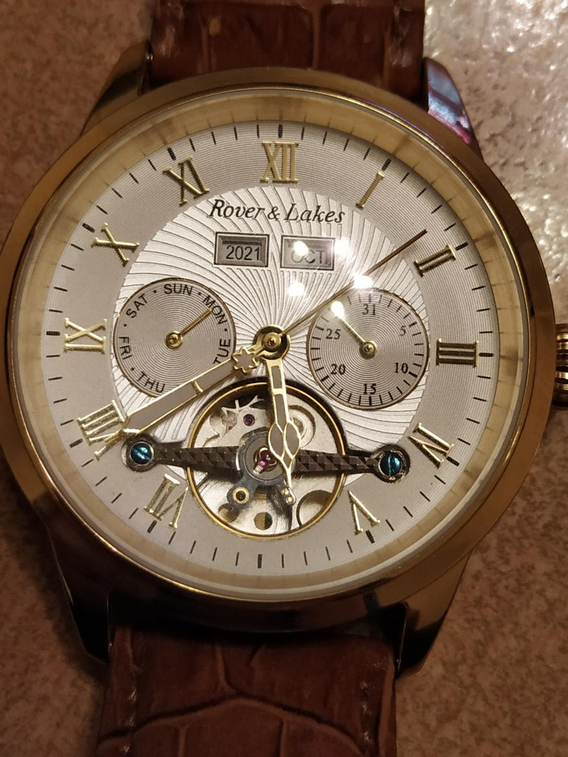 rover und lakes automatic uhr 10bar
