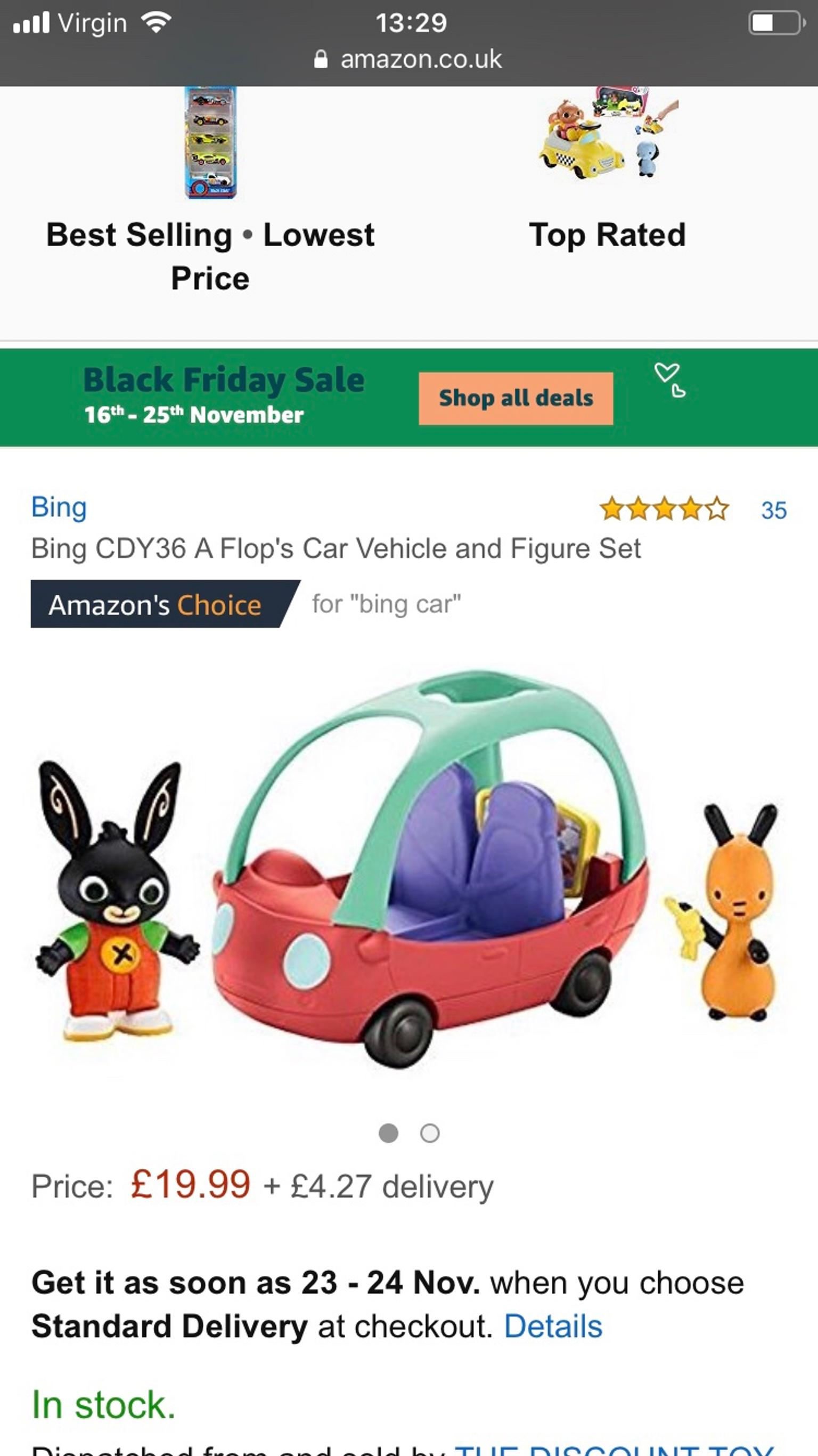 Bing and Flop vehicle and figure set
