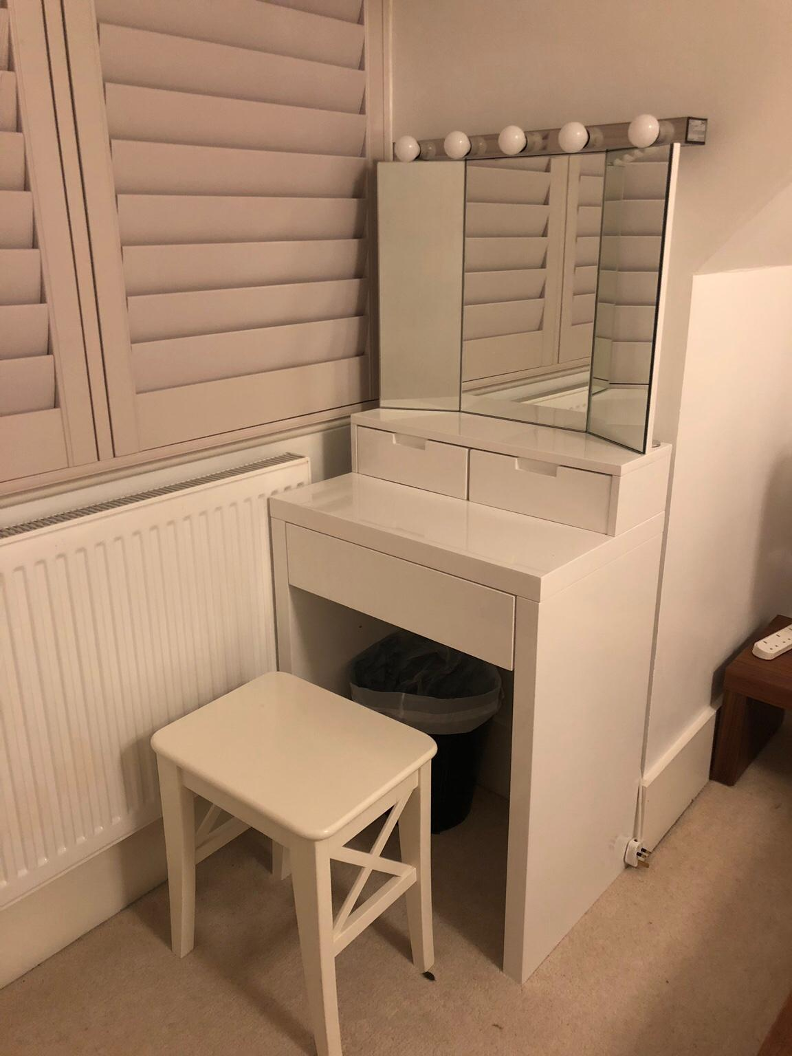 Dwell Marilyn Dressing Table White In