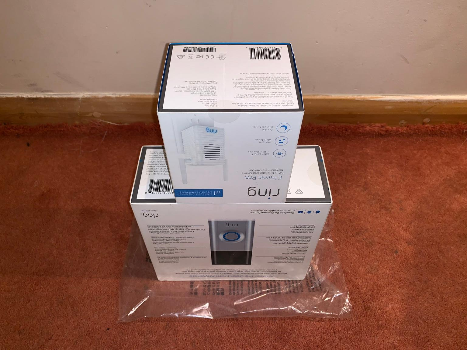 Ring Video Doorbell 2 & Chime Pro - Sealed