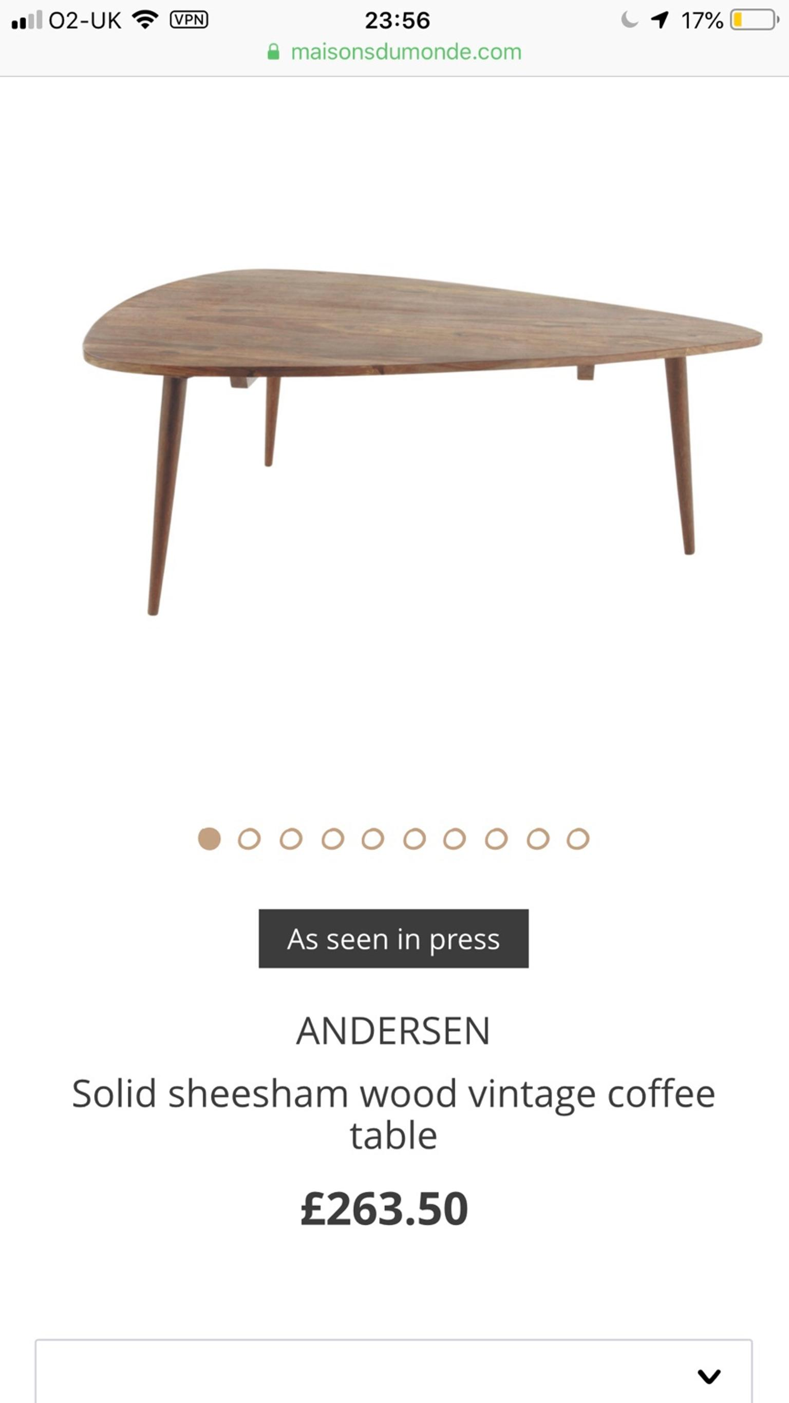 Maison Du Monde Andersen brand new coffee table from maison du monde