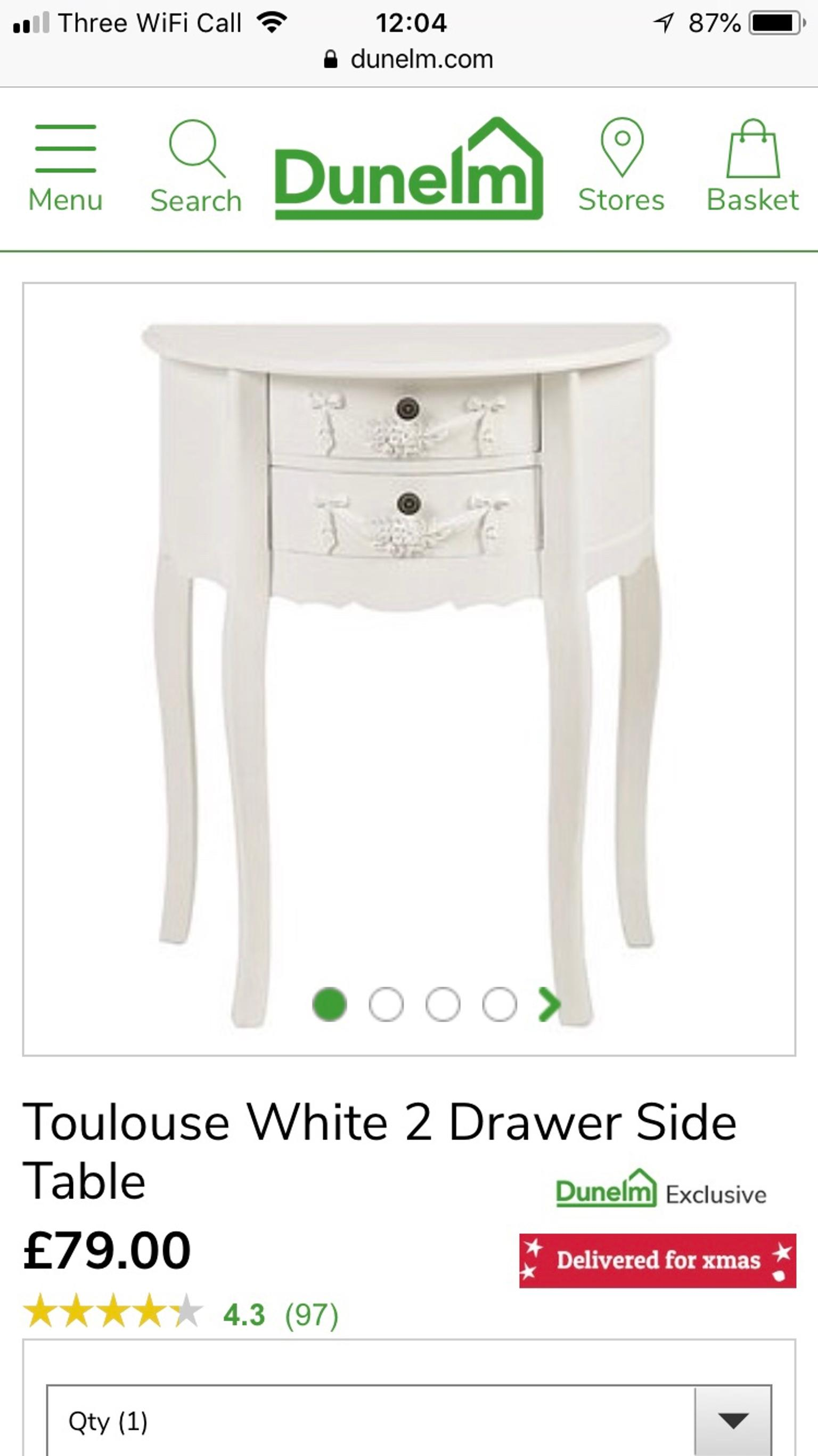 Picture of: Toulouse Dunelm Half Moon Table Shabby Chic In Se10 Greenwich For 30 00 For Sale Shpock