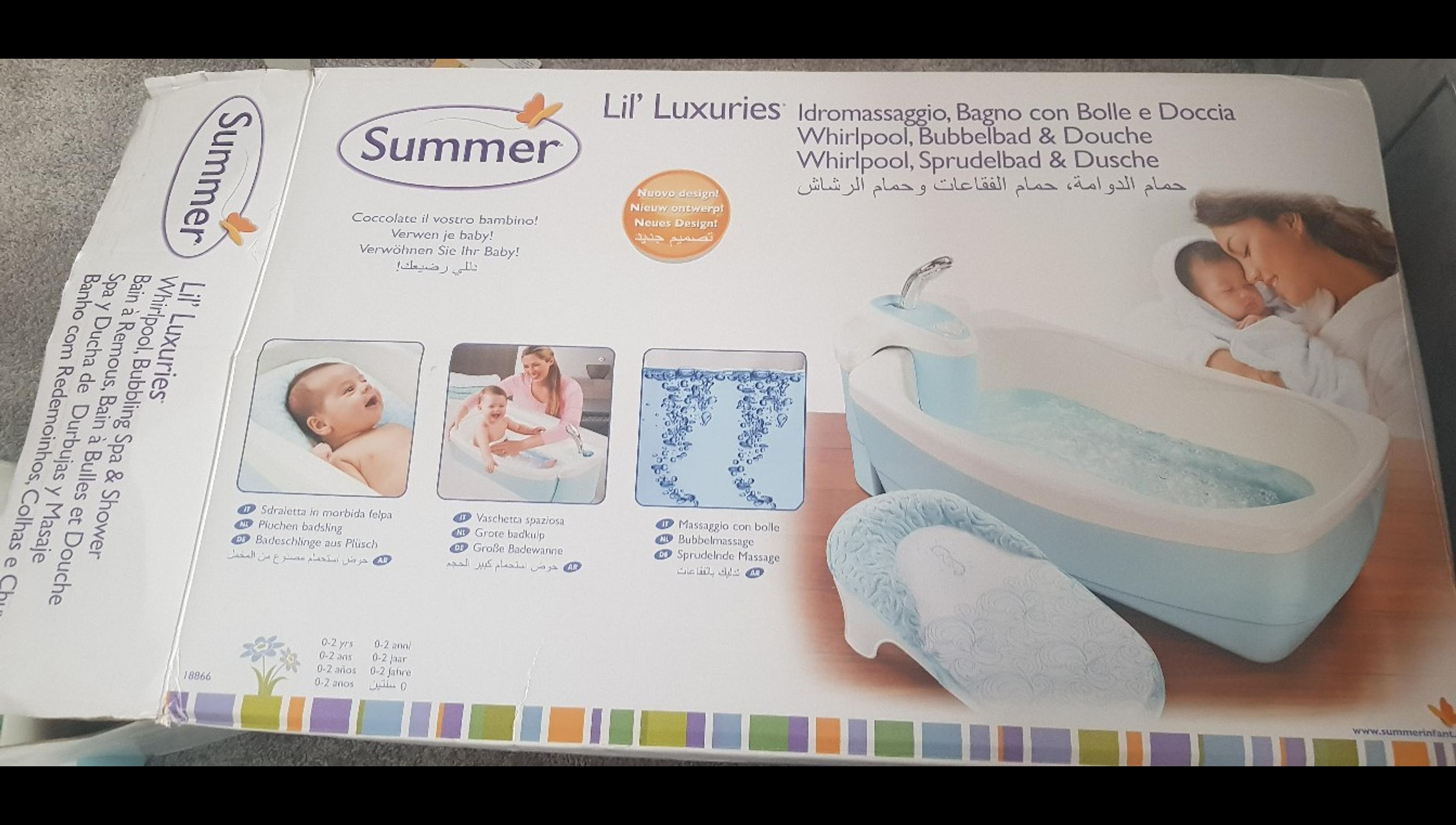 Summer Infant Lil Luxuries Whirlpool Bubbling Spa//Dusche