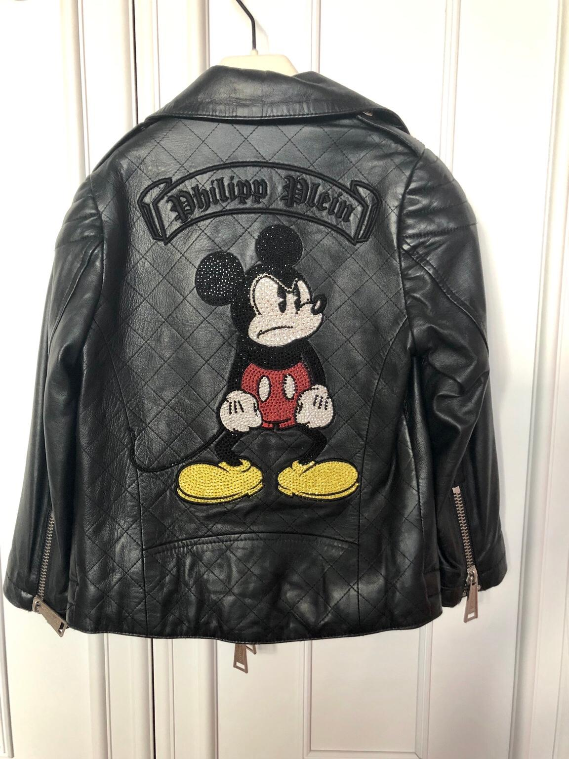 Philipp Plein Lederjacke Disney Mickey Mouse in 3451