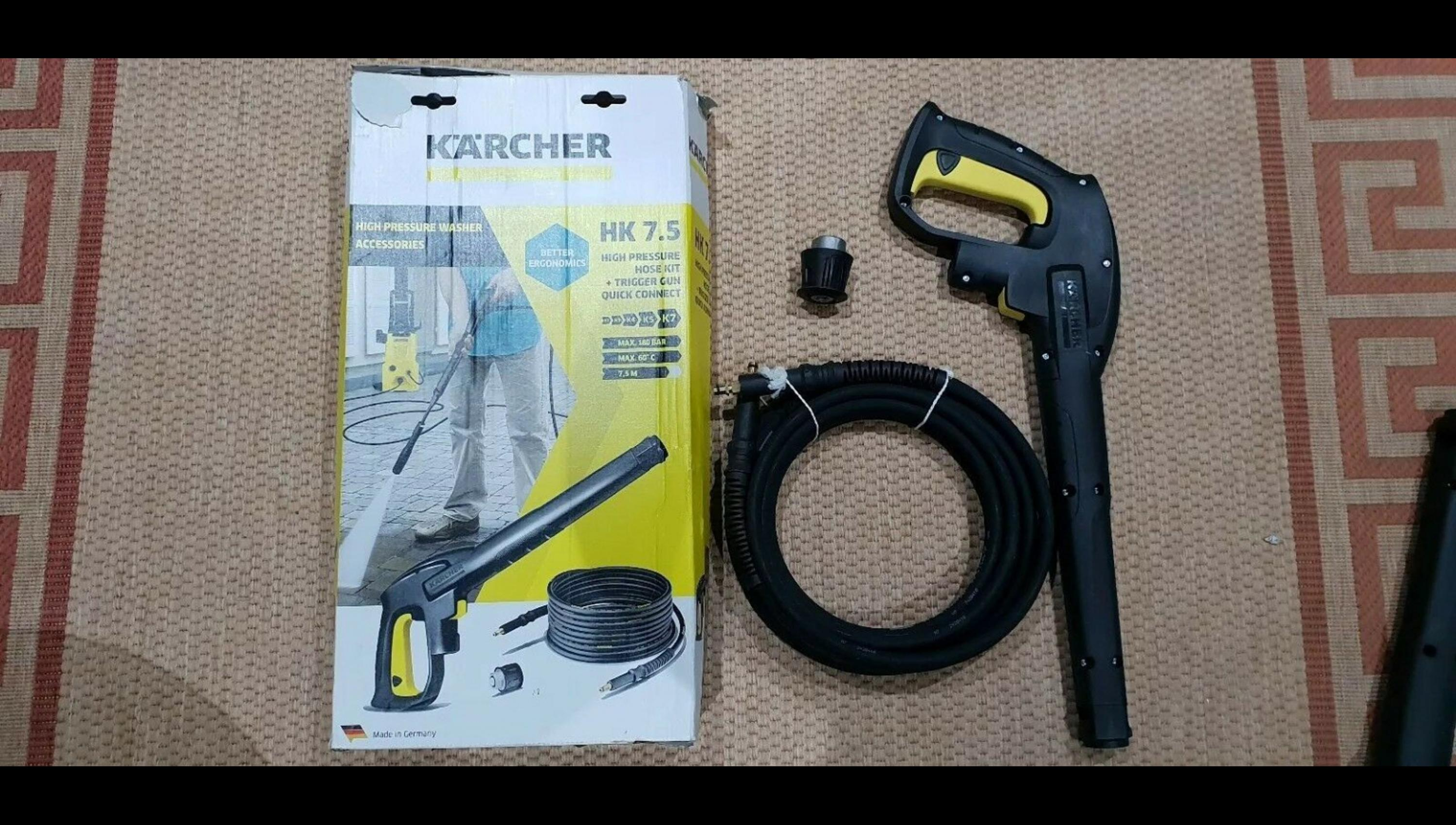 Kärcher Replacement 7.5m High Pressure Hose and Hand Gun Quick Connect Syst...