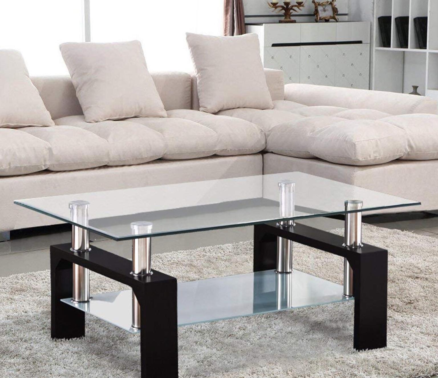 Coffee Table Glass Chrome Wood In W8 Chelsea For 40 00 For Sale Shpock