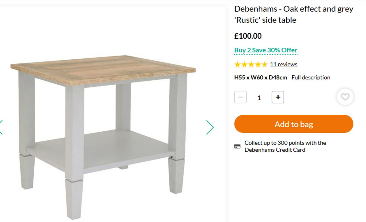 Debenhams Greyoak Rustic Living Room Set