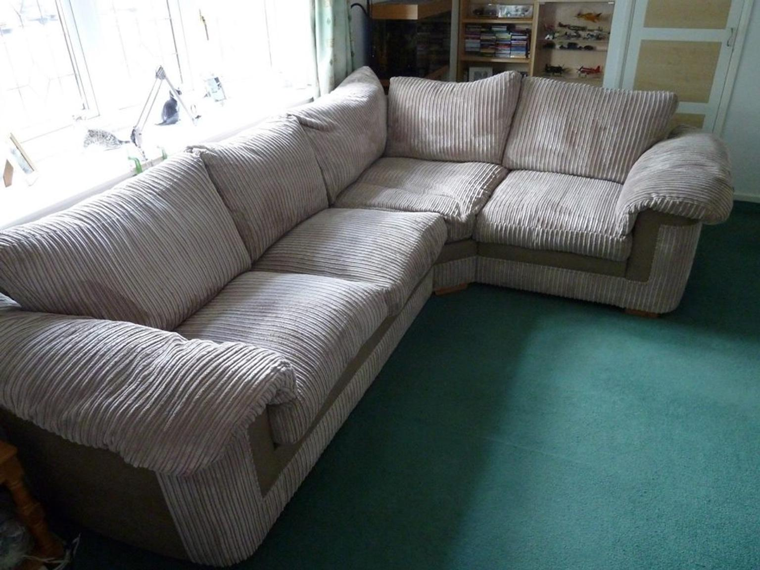 Jumbo Cord Sofology Large Corner Sofa In CM5 Forest For £195.00 For Sale   Shpock