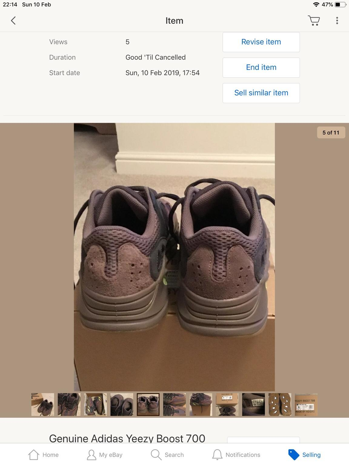 factory price 3f5c6 58565 Adidas Yeezy Boost 700 Wave Trainers UK5