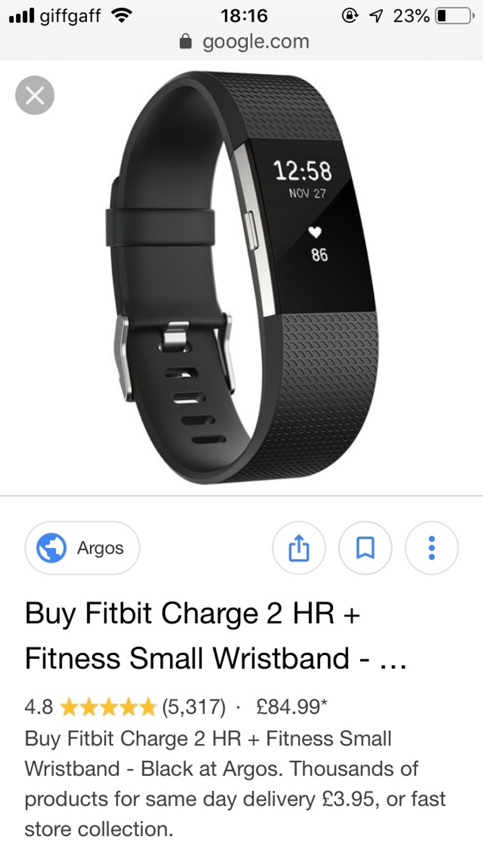 Fitbit charge 2 argos