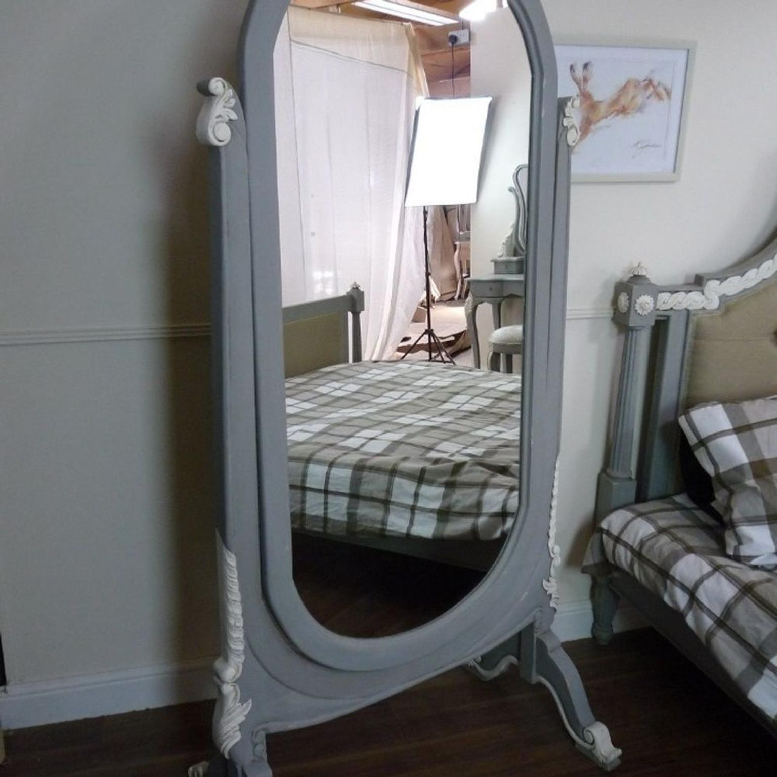 - FRENCH CH-EVAL STANDING MIRROR * In Ng5 6ae Nottingham Für 390,00