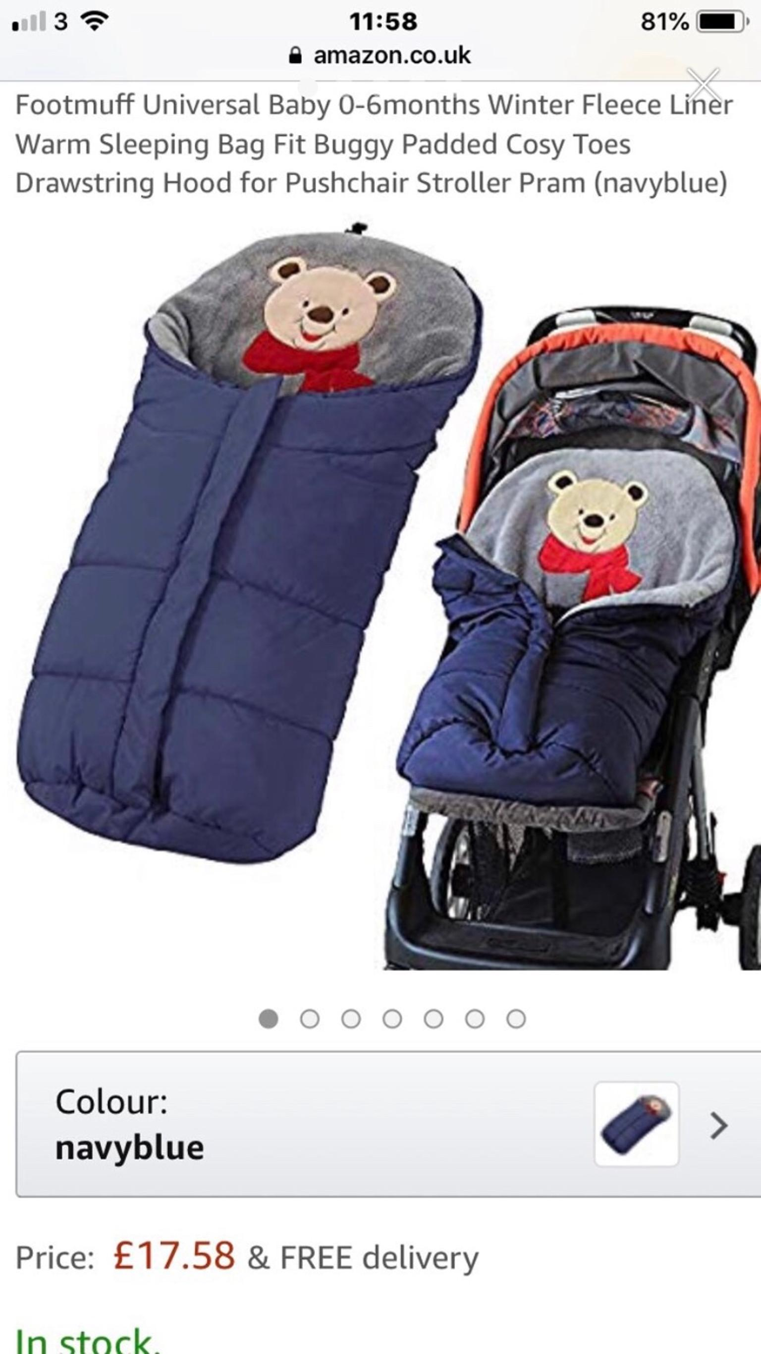 BABY FOOTMUFF FIT PUSHCHAIR BUGGY STROLLER PRAM BABY COSY TOES 4 COLOURS