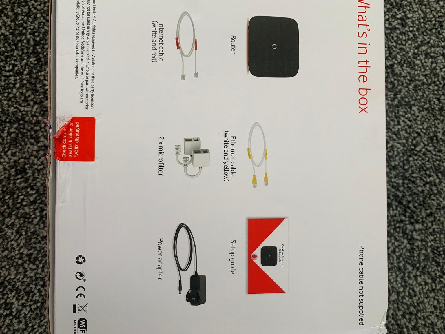 VODAPHONE BROADBAND ROUTER in Dudley for £15 00 for sale