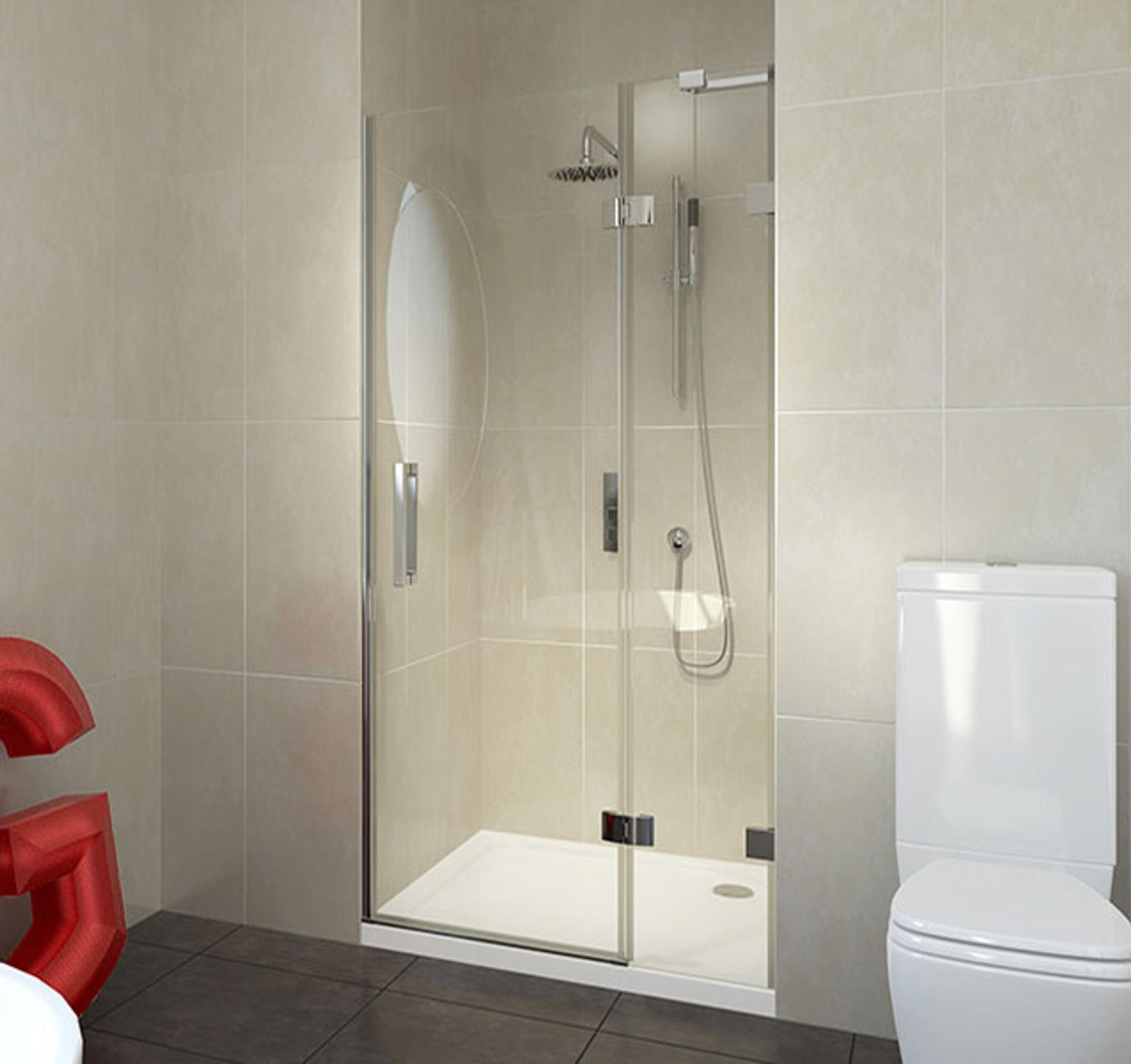 Balat Frameless Hinged Shower Door In Wv14 Sandwell For 163