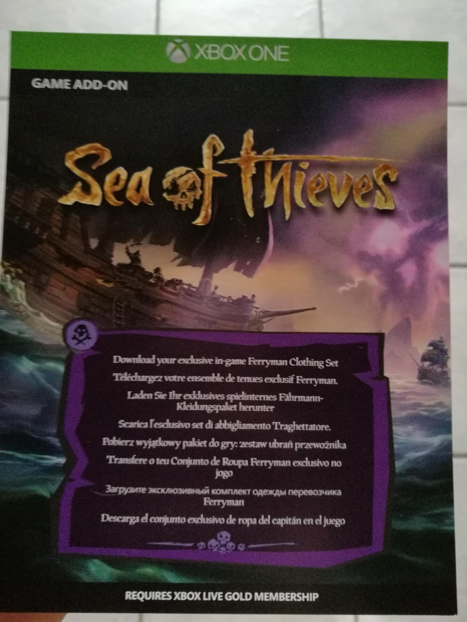 sea of thieves dlc code