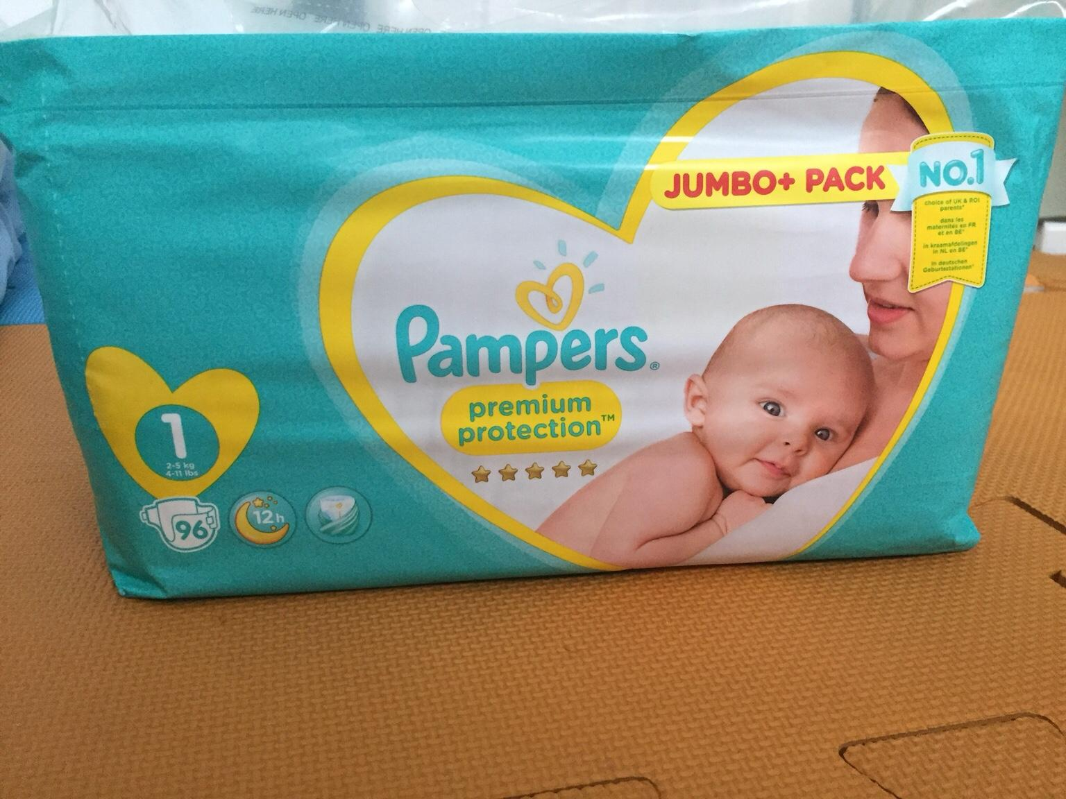 86 Nappies Jumbo Pack Pampers New Baby Size 2