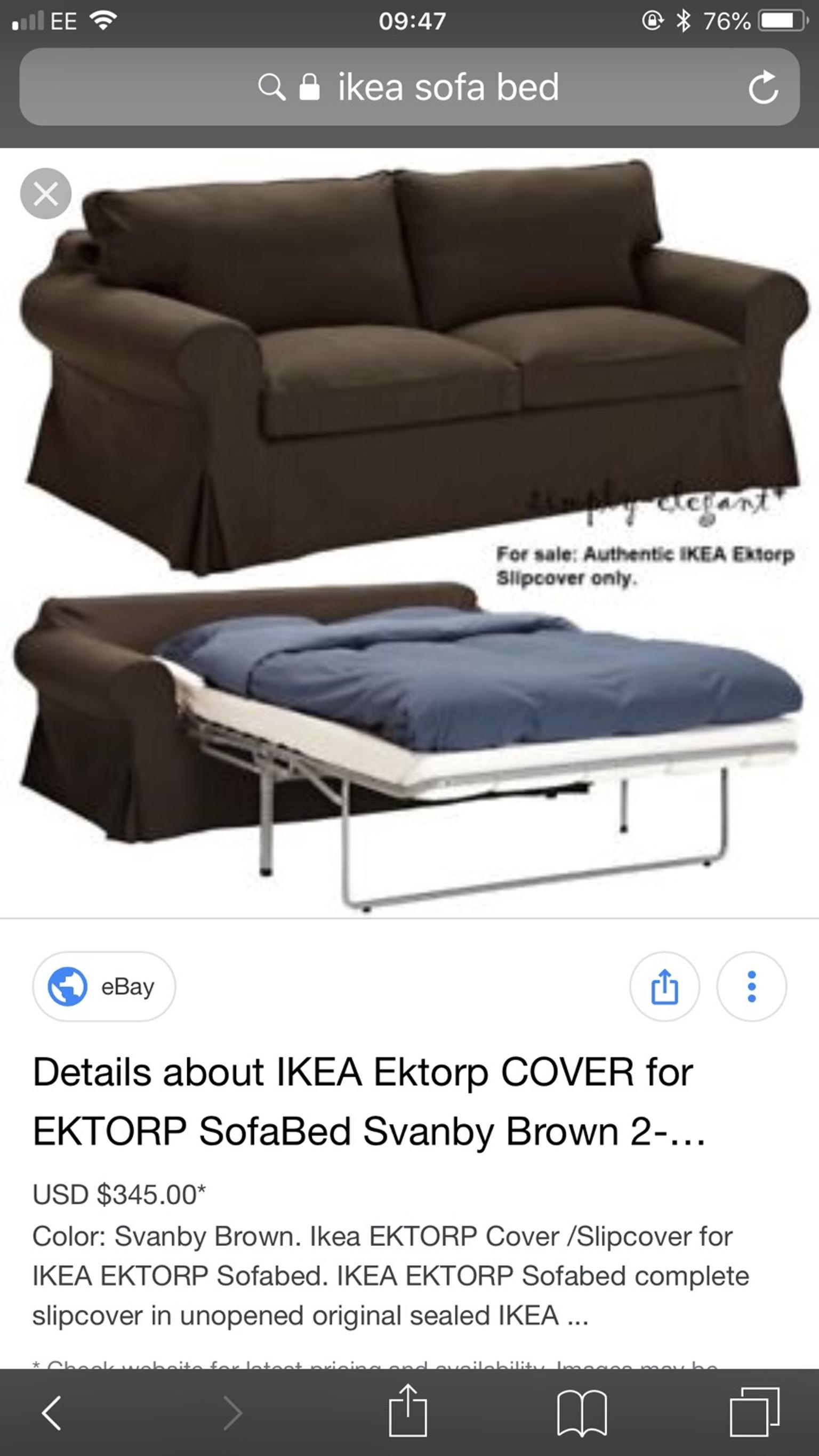 Ikea Ektorp Sofa Bed Metal Action In B28 Birmingham For 80 00 For