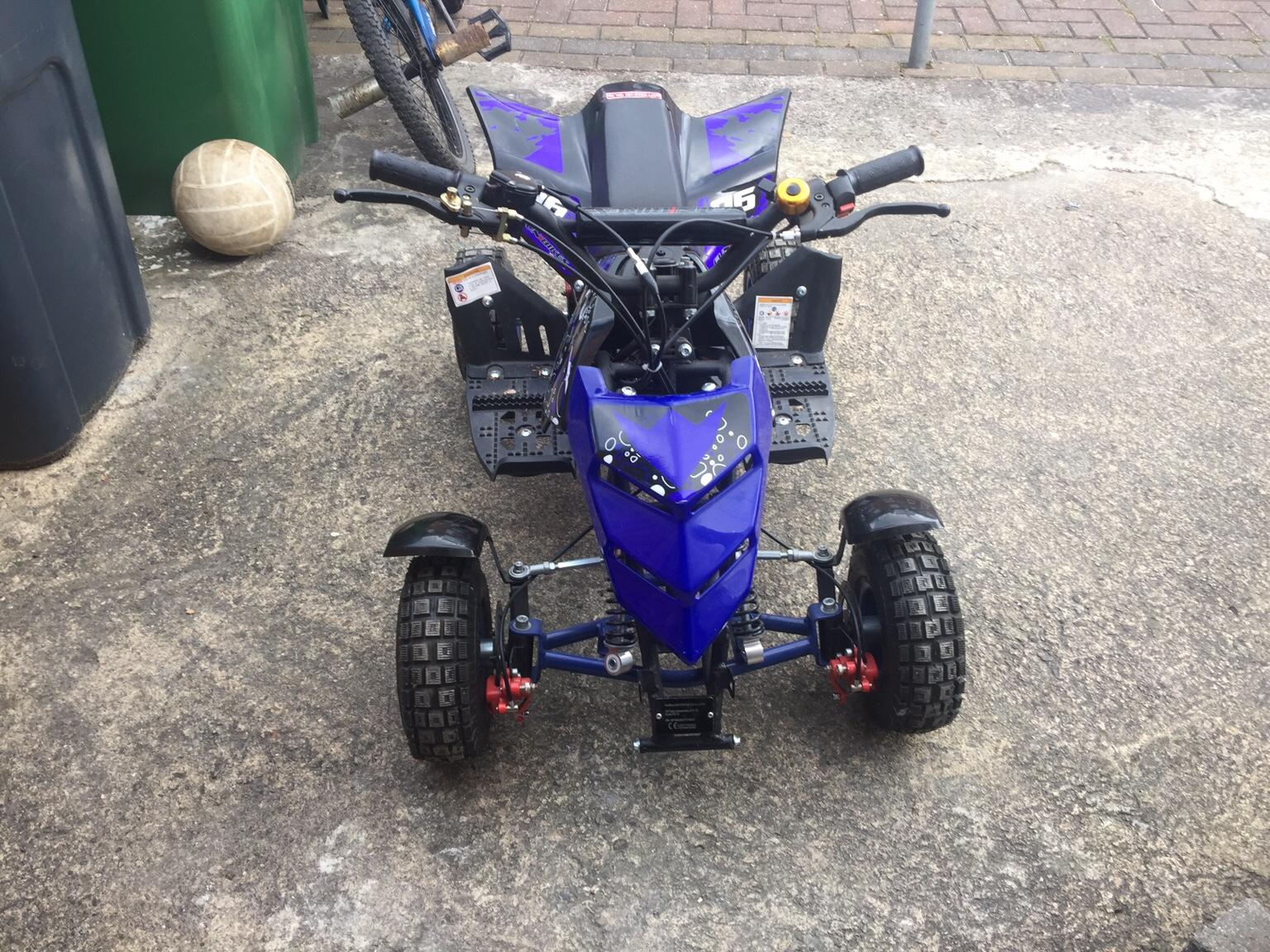 how to start a quad bike with a flat battery