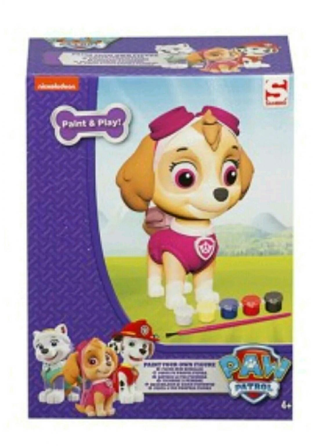 Childrens Paw Patrol Skye Colour Your Own Cushion NEW