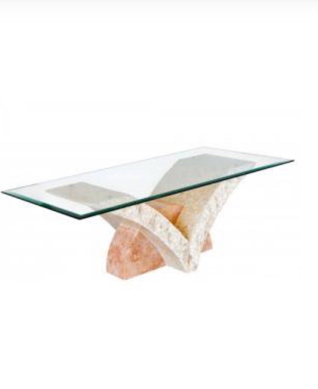 Marble Coffee Table With Oval Glass Top In Wd5 Rivers For 110 00