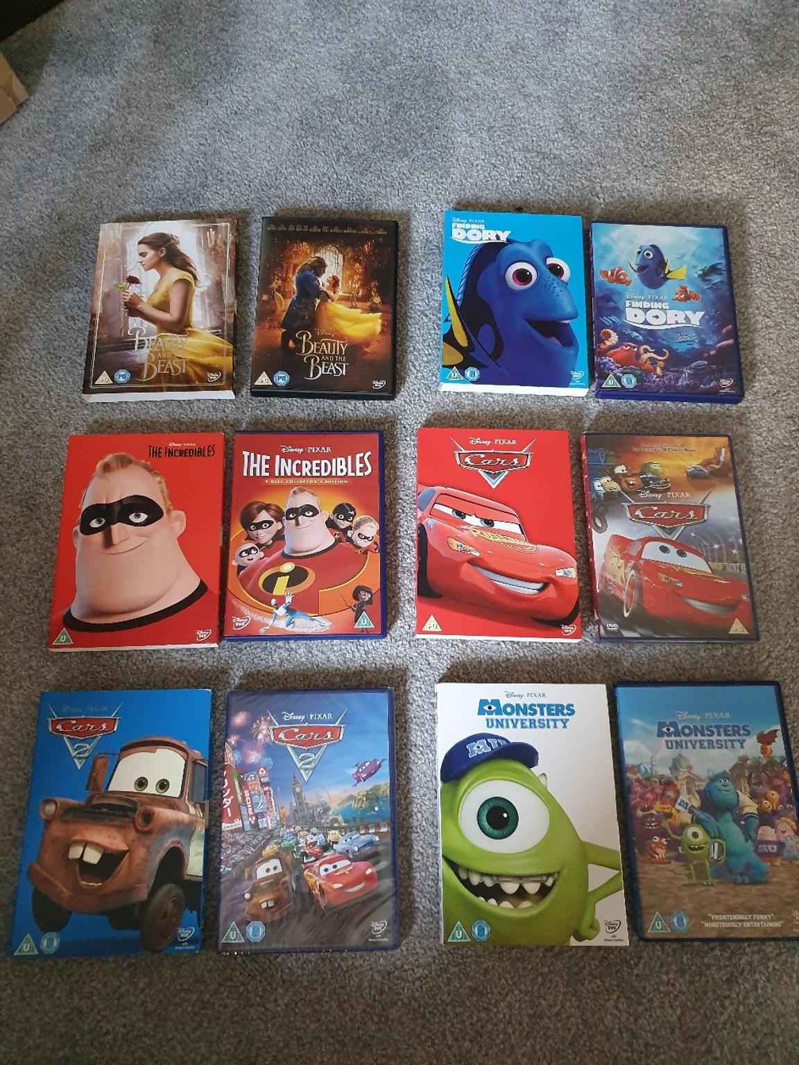 Disney/Pixar DVDs with Limited Edition Sleeve in EH20 ...