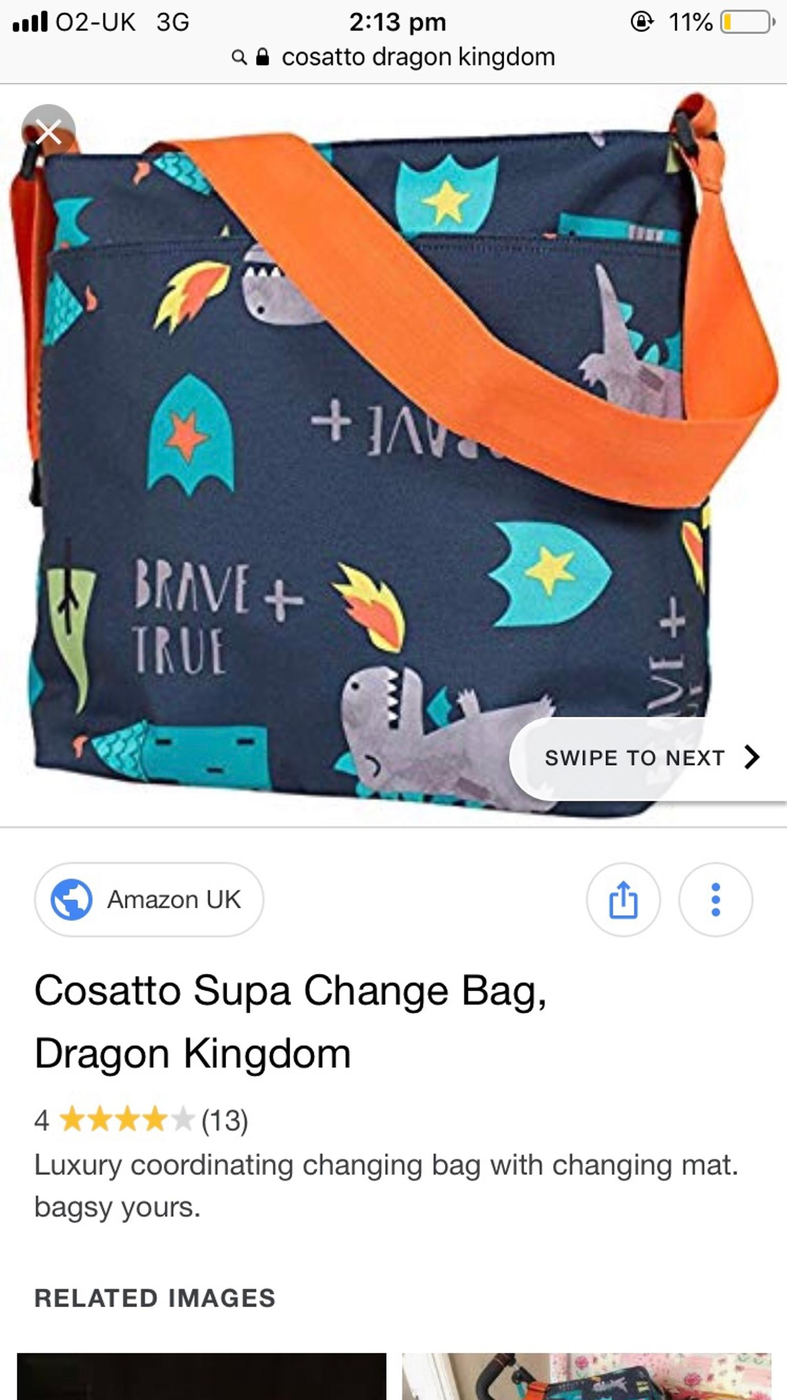 Dragon Kingdom Cosatto Supa Change Bag