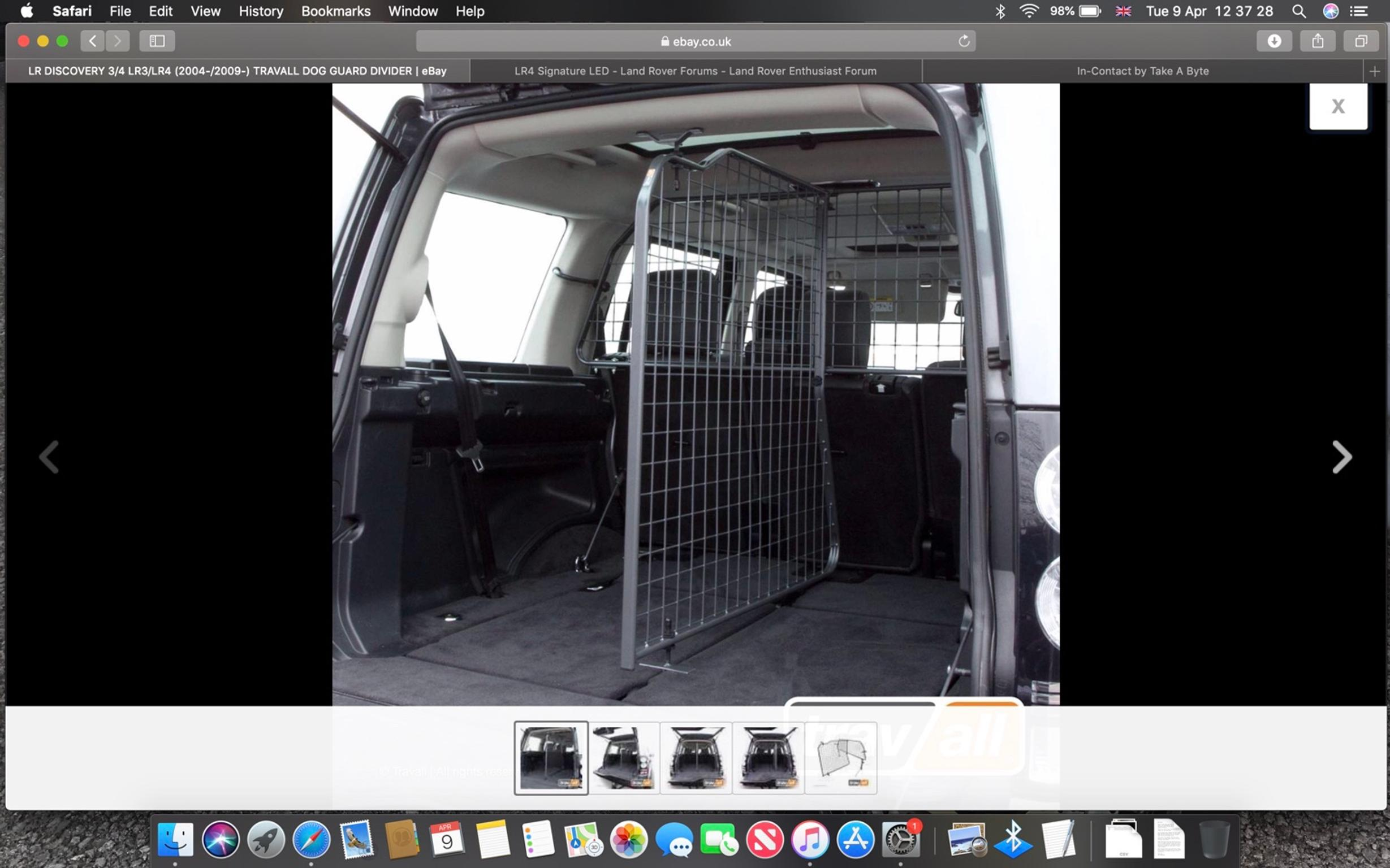 Dog guard Land Rover Discovery 4 lr4