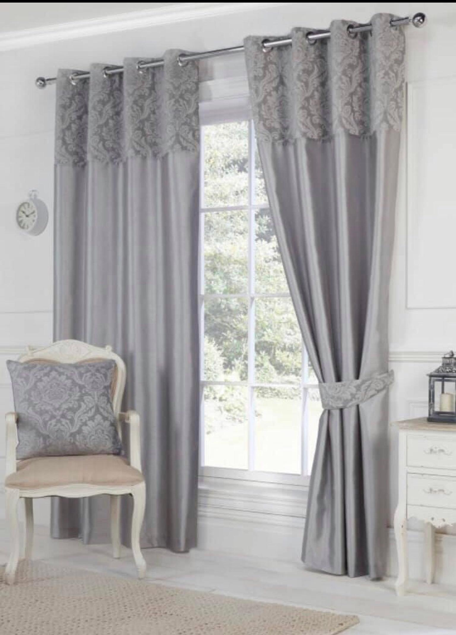 """A PAIR OF EYELET CURTAINS IN AUBERGINE//PURPLE  65/""""x72/""""  By K-LIVING MANHATTAN"""