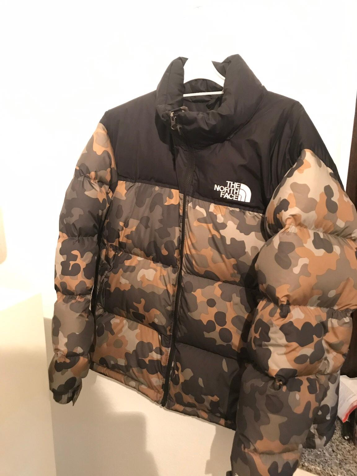 North JackeCamouflage Face The The Face Nuptse Nuptse JackeCamouflage North OPXZTiku