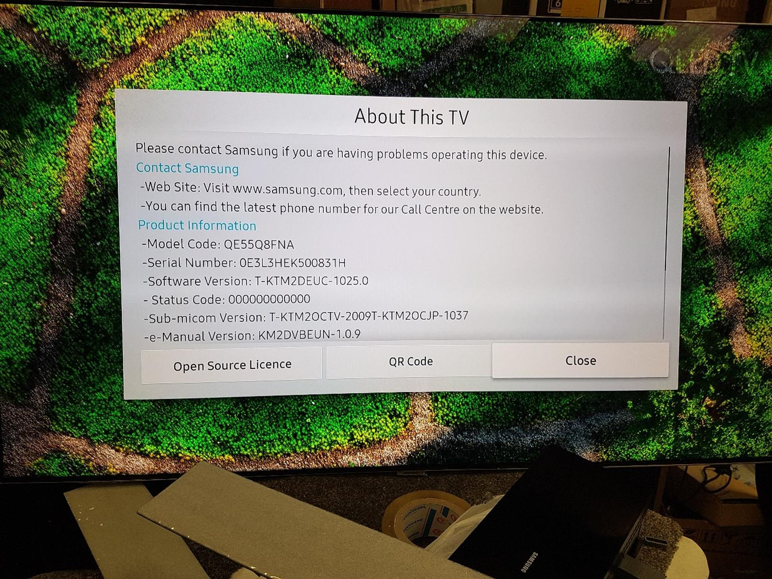 55 INCHES SAMSUNG QLED 55Q8FNA FOR SALE in B16 Birmingham