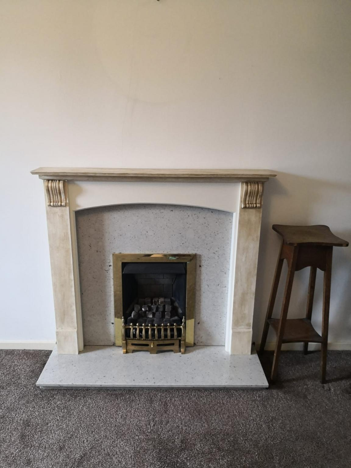 Fine Gas Fireplace With Stone Base Home Interior And Landscaping Synyenasavecom