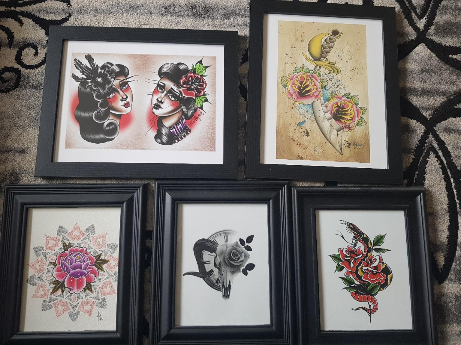 2bfa17a98ef9c framed tattoo art prints in W3 London Borough of Ealing for £10.00 for sale  - Shpock