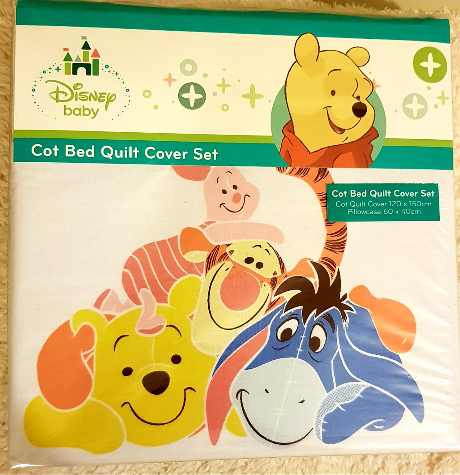 Disney Baby WINNIE Duvet Cover and Pillowcase Set Toddler Cot Bed Unisex