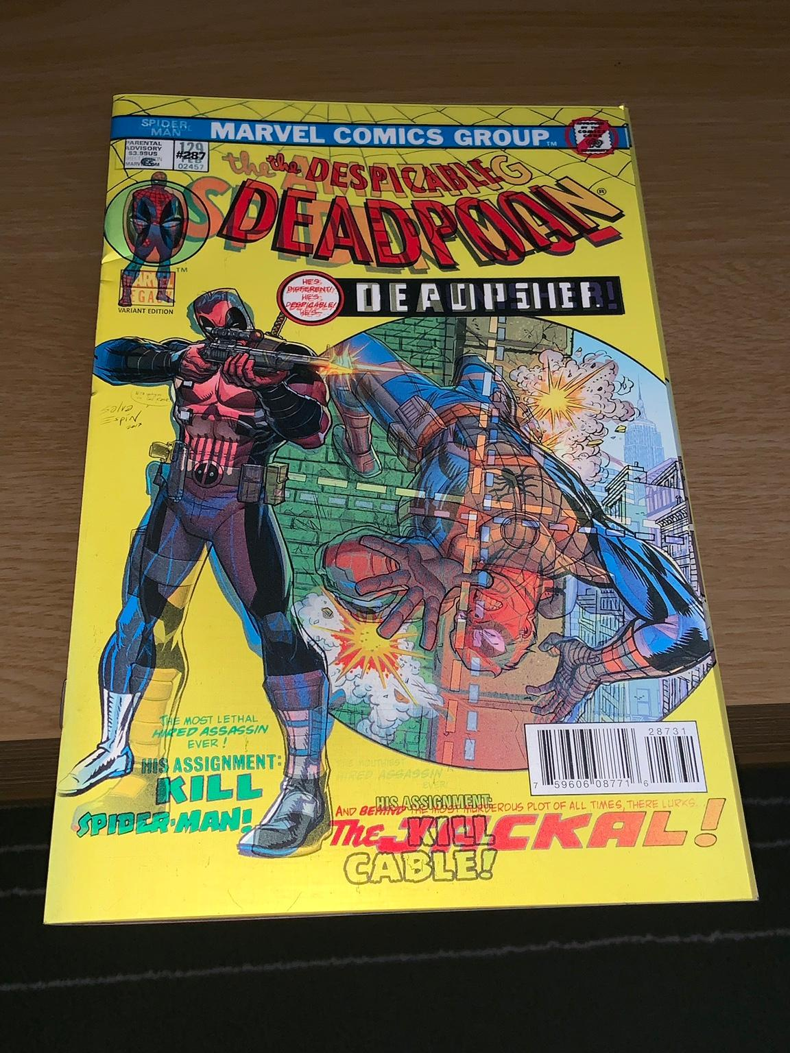 DESPICABLE DEADPOOL #287 ESPIN LENTICULAR 3D VARIANT COVER HOMAGE SPIDER-MAN 129