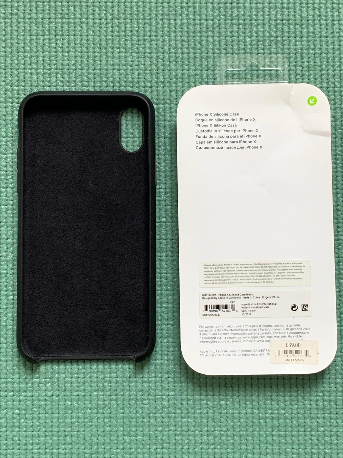 COVER CUSTODIA IN SILICONE ORIGINALE APPLE PER IPHONE X XS CASE