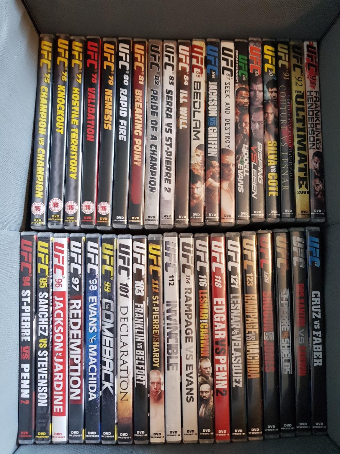 Ufc Dvd Collection In Wigan For 60 00 For Sale Shpock