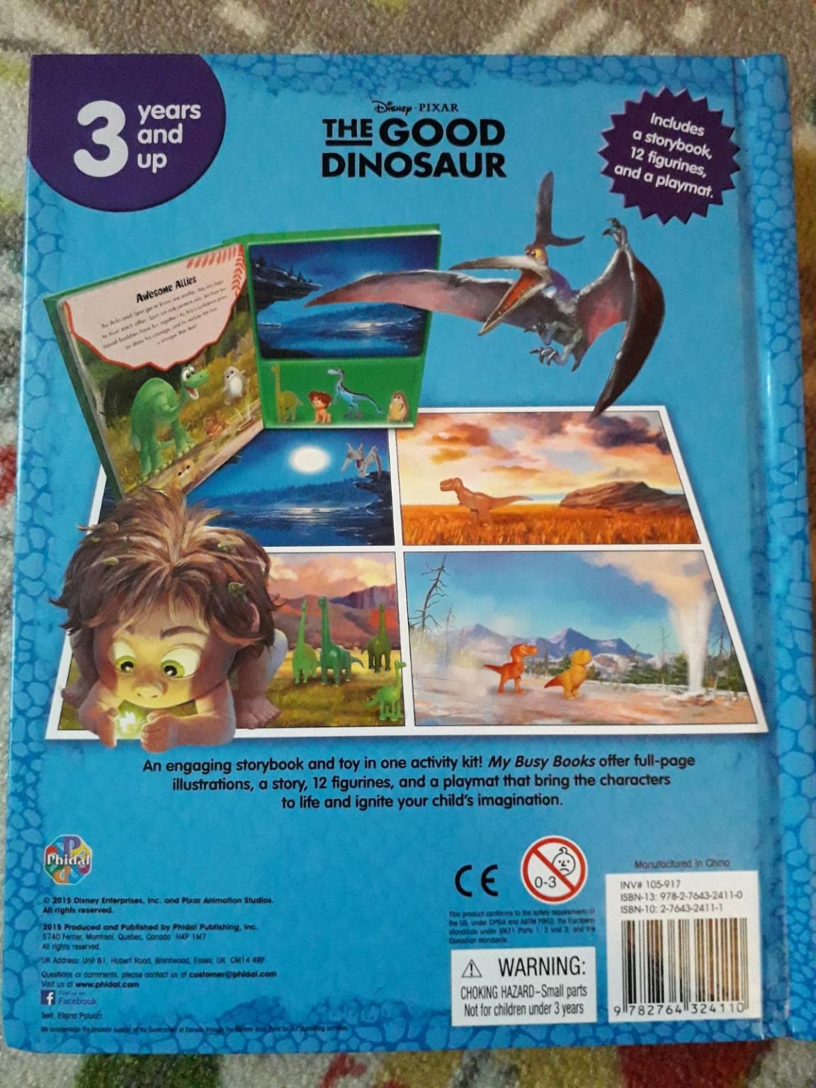 Disney Pixar The Good Dinosaur My Busy Book 12 Character Figurines /& Playmat